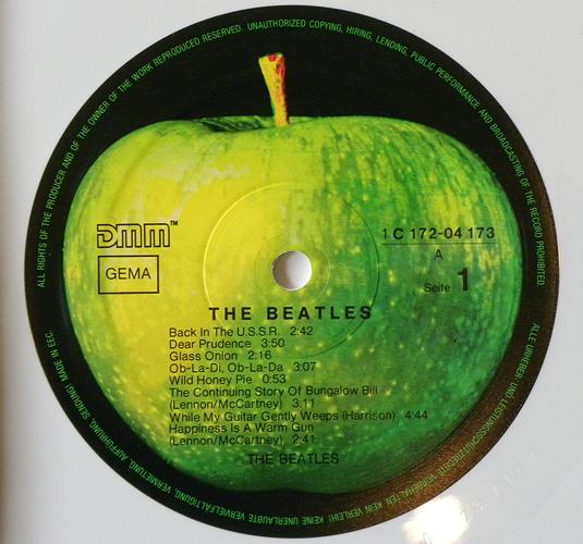 Beatles Platten Originalpressungen The Beatles White